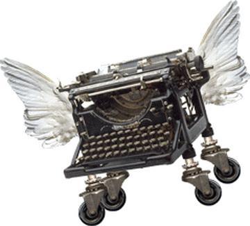 Flying typewriter