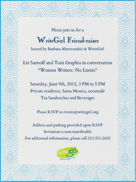 WriteGirl Friend-raiser Invite