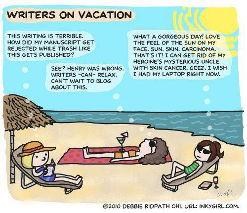 Writers on vacation562805_10150992153800629_142745789_n